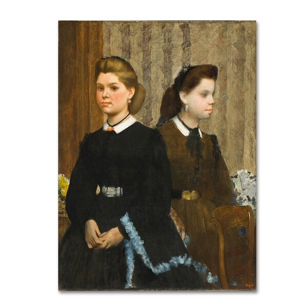 Degas 'The Bellelli Sisters' Canvas Art