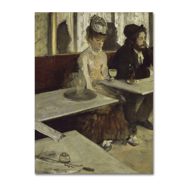 Degas 'In A Cafe' Canvas Art