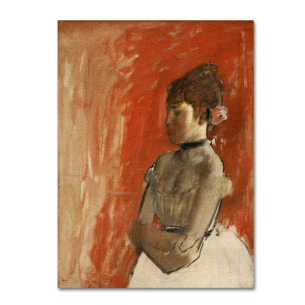 Degas 'Ballet Dancer With Arms Crossed' Canvas Art