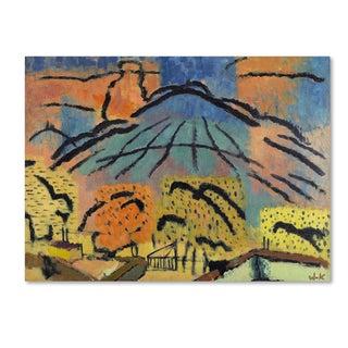 Johann Walter Kurau 'Mountain Near Metzinger' Canvas Art
