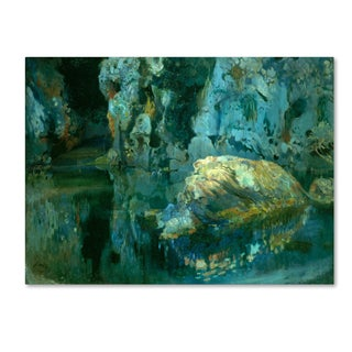 Joaquim Mir 'The Rock In The Pond' Canvas Art