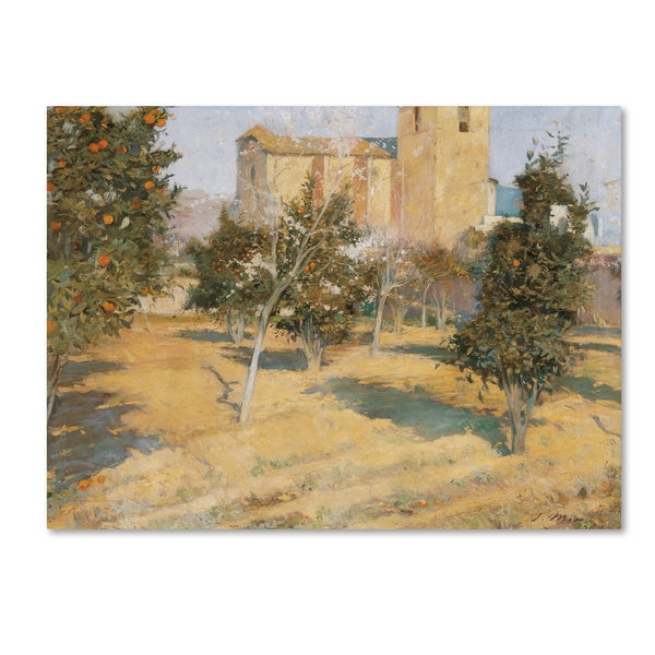 Joaquim Mir 'The Rectors Orchard' Canvas Art