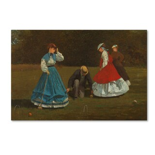 Homer 'Croquet Scene' Canvas Art