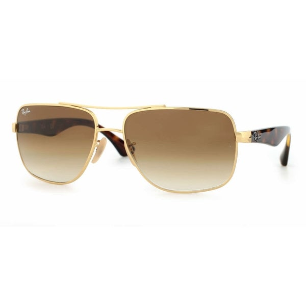 f3fae6be79 Ray-Ban RB3483 Unisex Gold   Tortoise Frame Light Brown Gradient 60mm Lens  Sunglasses