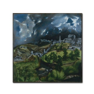 El Greco 'View Of Toledo' Canvas Art