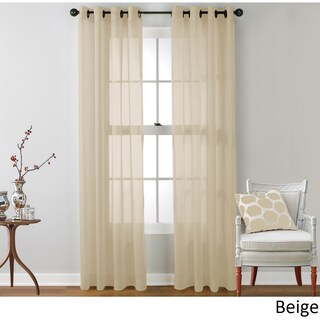 HLC.ME Sheer Voile Grommet Top Curtain Panel Pair (4 options available)