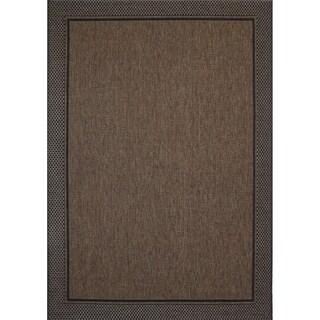 Gertmenian Studio by Brown Jordan Savannah Brown/Black Area Rug - 5'3 x 7'5