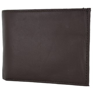 Swiss Marshal RFID Blocking Premium Soft Leather Men's Multi Card Compact Center Flip Bifold Wallet