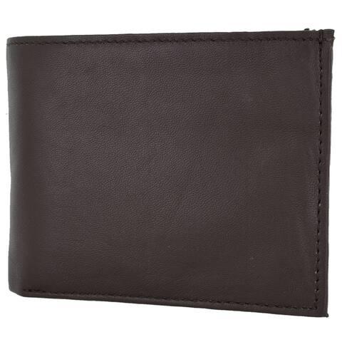Swiss Marshal RFID Blocking Premium Soft Leather Men's Multi Card Compact Center Flip Bifold Wallet