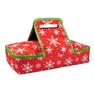 Snowflakes Insulated Casserole Tote