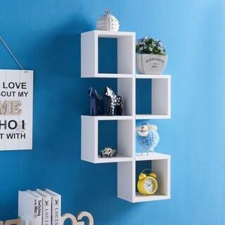 Danya B. Cubby Chessboard Wall Shelf–White