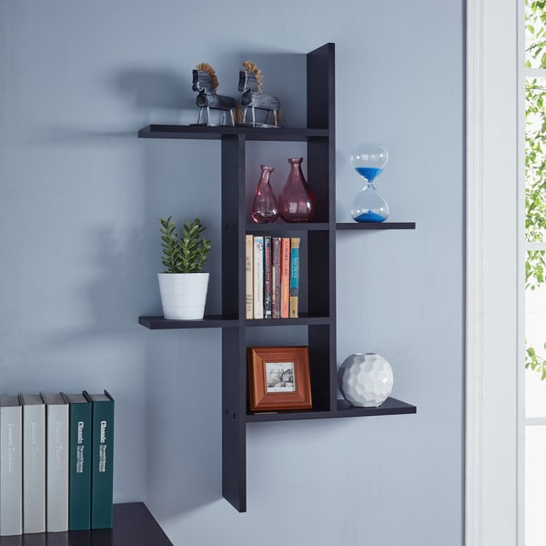 floating cabinets kitchen shop danya b cantilever wall shelf black free 3773