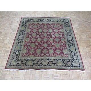 Hand-knotted Fine Agra Burgundy 100-percent Wool Oriental Rug (8'10 x 9'2)