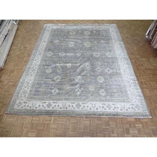 Grey Wool Oushak Oriental Rug (11'8 x 15'1)