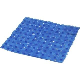 Evideco Non Skid Square Shower Mat Design Pebbles 19W X 20L