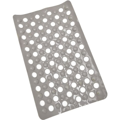 Evideco Non Skid Bathtub Mat with Holes 23.5x 15