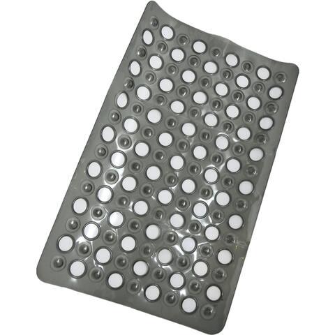 Evideco Non Skid Bathtub Mat with Holes 23.5x 15