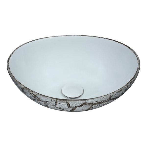 ANZZI Sona Series Ceramic Vessel Sink in Grey
