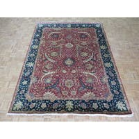 Kerman Rust Red Wool Hand-knotted Oriental Rug - 8' x 10'7