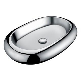 Anzzi Prussian Series Silver Ceramic Vessel Sink