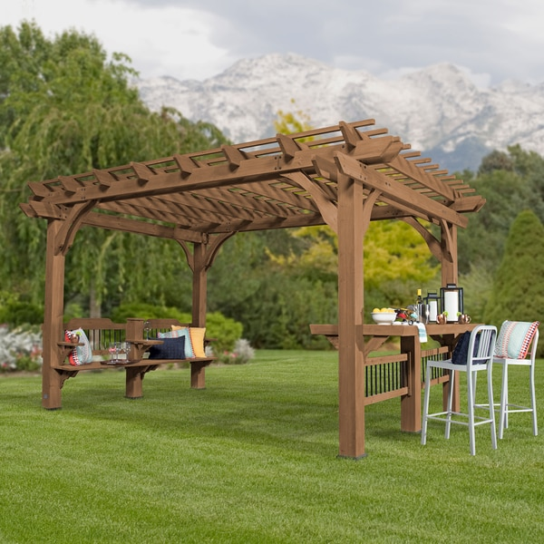 Backyard Discovery 14 x 10 Oasis Pergola - Shop Backyard Discovery 14 X 10 Oasis Pergola - Free Shipping Today