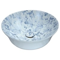 ANZZI Spanish Series Ceramic Vessel Sink in Blue