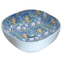 ANZZI Byzantian Series Ceramic Vessel Sink in Mosaic Blue