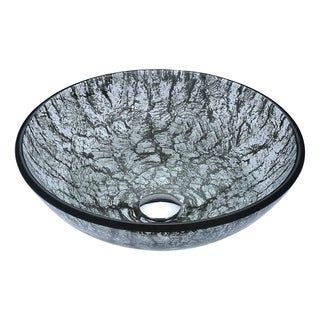 Anzzi Posh Series Verdure Silver Deco-glass Vessel Sink