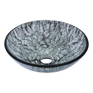 Anzzi Posh Series Verdure Silver Deco Glass Vessel Sink