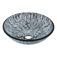 Anzzi Posh Series Verdure Silver Deco-glass Vessel Sink