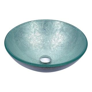 ANZZI Posh Series Deco-Glass Vessel Sink in Glacial Silver
