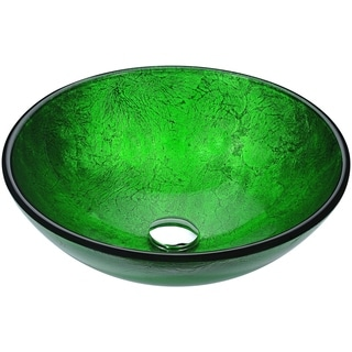 Anzzi Posh Series Verdure Green Deco-glass Vessel Sink