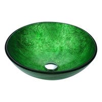 ANZZI Posh Series Deco-Glass Vessel Sink in Celestial Green