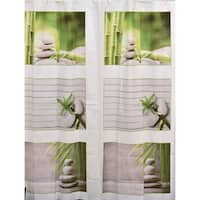 Evideco Bathroom Printed Peva Liner Shower Curtain Zen and Co