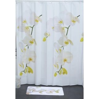 Evideco Bathroom Printed Shower Curtain Purity Peva