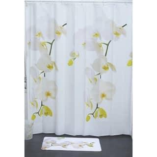 Evideco Bathroom Printed Shower Curtain Purity Peva