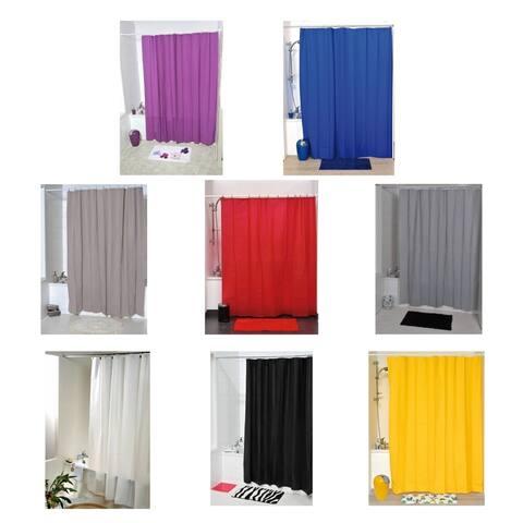 Evideco Bath Shower Curtain Eva Solid Color