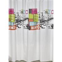 Evideco Bathroom Printed Shower Curtain Urban NYC Peva