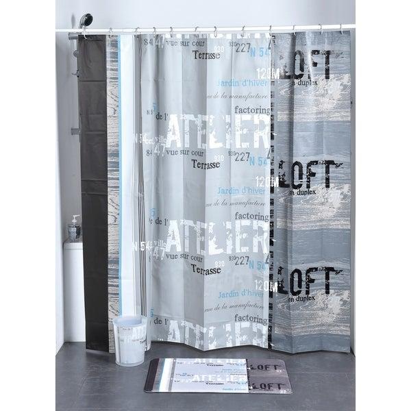 Evideco Bathroom Printed Shower Curtain Atelier Loft Peva