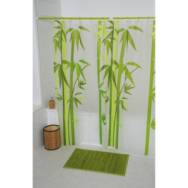 Evideco Bathroom Printed Shower Curtain Ecobio Peva