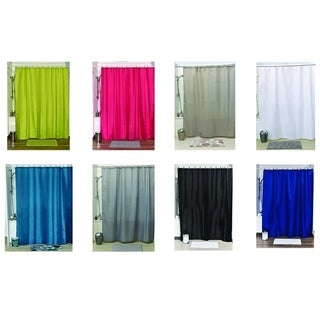 Evideco Shower Curtain Fabric Polyester with 12 Color Matching Rings