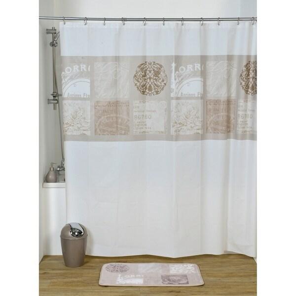 Evideco Bathroom Printed Peva Shower Curtain Paris Romance