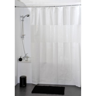 Evideco Bathroom Shower Curtain Peva Solid Colors With
