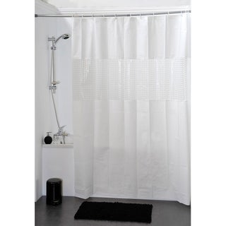 Evideco Bathroom Shower Curtain Peva Solid Colors with Laser