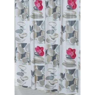Evideco Bathroom Printed Shower Curtain Spa Peva
