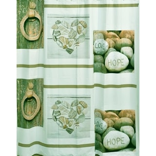 Evideco Bathroom Peva Liner Shower Curtain Design Nature