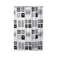 Evideco Bathroom Printed Peva Shower Curtain Peace and Loft