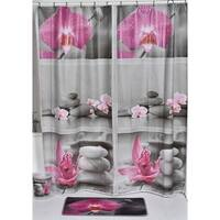 Evideco Bathroom Printed Shower Curtain Chic and Zen Peva