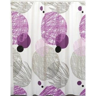 Evideco Bathroom Printed Shower Curtain Valentine Peva