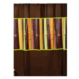 Evideco Bathroom Printed Peva Shower Curtain Java